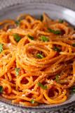 Spaghetti al pomodoro, formaggio e basilico, dieta mediterranea