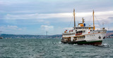 Beautiful View touristic landmarks from sea voyage on Bosphorus. turkish steamboats, view on Golden Horn. - 242360294