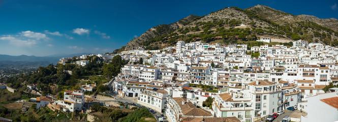 Panoramic view of Mijas village in Malaga province, Spain © Evan Frank