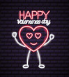 valentine day neon - 242364276
