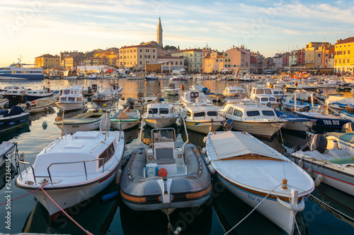 Boats at Rovinj harbour