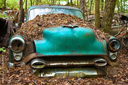 Foto Murales Old Scrap Car