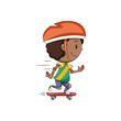 Boy skateboard ride