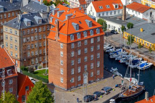 Copenhagen. Aerial view of the city.