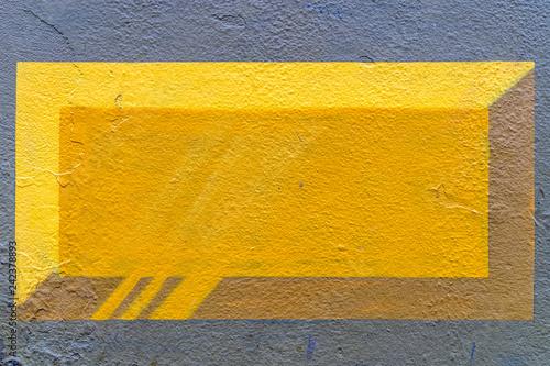 3d yellow brick graffiti - high quality texture / background