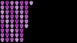 HD animation of glowing Sugar Skulls forming a wall. - 242387045