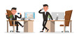 business people character vector design. Presentation in various action and working. no42