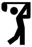 Golf Swing Vector Icon
