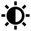 Brightness Contrast Camera Setting Icon
