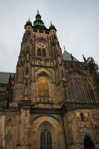 obraz PCV Splendida cattedrale di San Vito in stile gotico a Praga