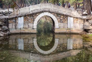Brücke im Sommerpalast in Peking in China
