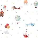 Watercolor circus vector pattern - 242423685