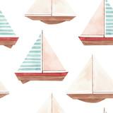 Watercolor marine vector pattern - 242423823