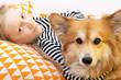 Quadro girl and dog
