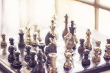 chess game on board