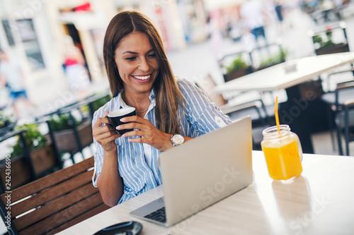 Girl enjoying coffee