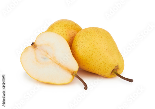 Foto Murales pears on white