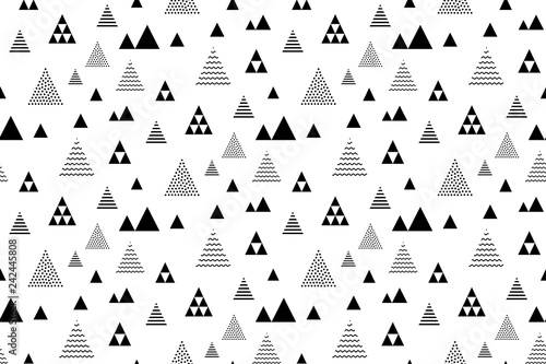 obraz lub plakat Seamless triangles pattern. Pyramid tile texture. Abstract geometric repeat.