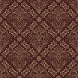 Orient vector classic pattern. Seamless abstract background with vintage elements. Orient brown and golden background. Ornament for wallpaper and packaging - 242446225