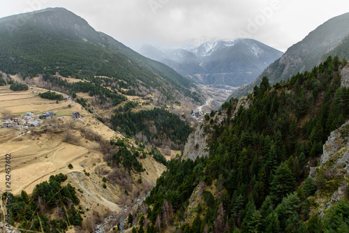 Landscapes from Canillo to the Meritxell Sanctuary in Andorra.