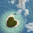Leinwandbild Motiv Heart Island