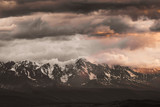 mountains in the clouds in the Altai