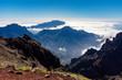 Leinwanddruck Bild - Roque de los Muchachos auf La Palma