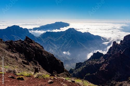Leinwanddruck Bild Roque de los Muchachos auf La Palma