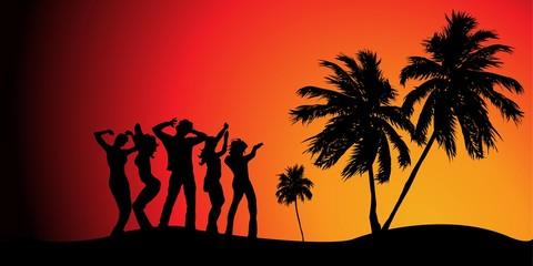 Fiesta en la playa © Parato