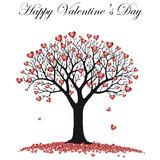 Happy Valentine's Day heart tree  - 242480833