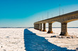 Confederation Bridge over sea ice to PEI Canada