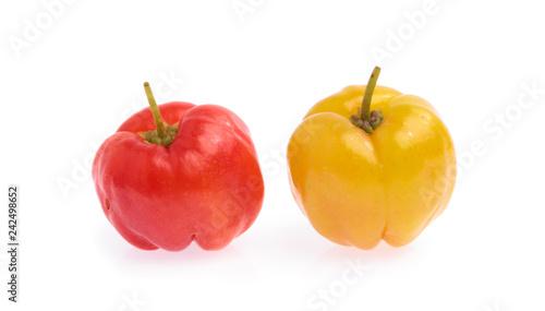 Fresh organic cherry isolated on white background