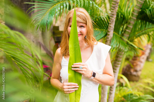 Woman embracing green lifestyle