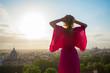 Quadro Woman enjoying morning in Rome