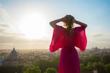 Woman enjoying morning in Rome - 242507417