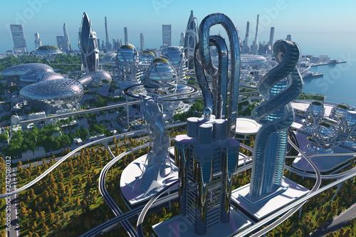 Leinwanddruck Bild City of skyscrapers.