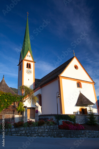 St. Oswald Parish Church in Alpbach,Austria.