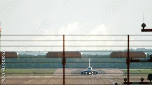 Jet airplane departure