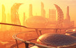 Leinwanddruck Bild - The city of fantasy.