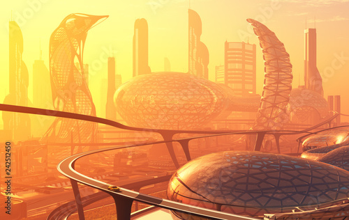 Leinwanddruck Bild The city of fantasy.
