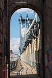 Manhattan Bridge Footpath in New York City