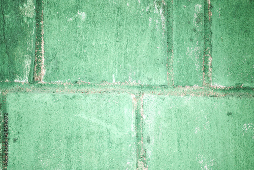 Putty green concrete block wall. background - 242516872