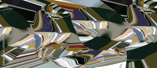 Color abstract and art illustration in the design of the internal positive