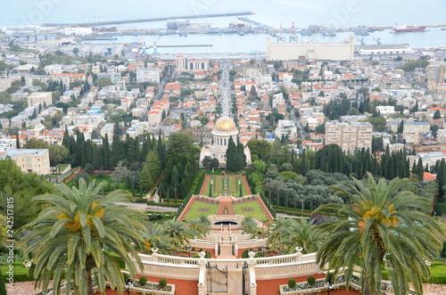 Shrine of the Bab and Bahai Gardens in Haifa