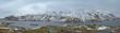 Leinwandbild Motiv Panorama of norwegian fjord, Lofoten islands, Norway