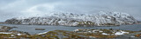 Panorama of norwegian fjord, Lofoten islands, Norway
