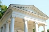 Columns on white building - 242519240