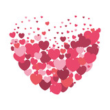 hearts love pattern background - 242538879