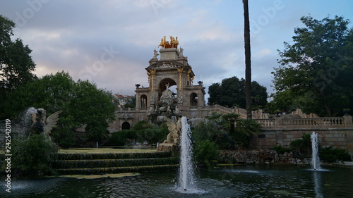 obraz lub plakat fountain in park