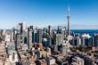 Leinwanddruck Bild - Aerial view of Downtown Toronto, Ontario, Canada.